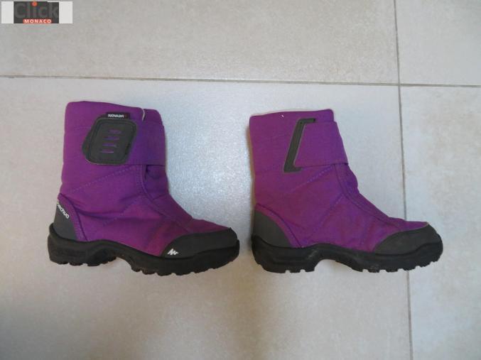 offre spéciale meilleur site meilleur prix pour Chaussures Aprés ski violet fille taille 30 Monaco La Rousse ...
