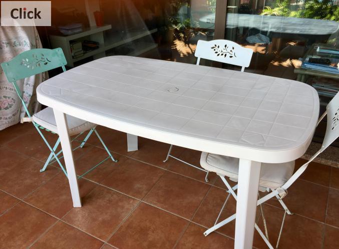 Ameublement Table de jardin en plastique + chaises Monaco ...